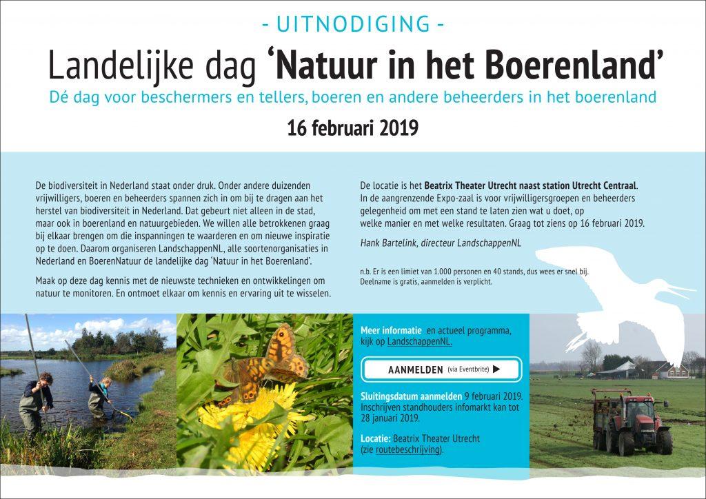 """Landelijke dag """"Natuur in het Boerenland"""" 16 februari voor boeren en vrijwilligers"""
